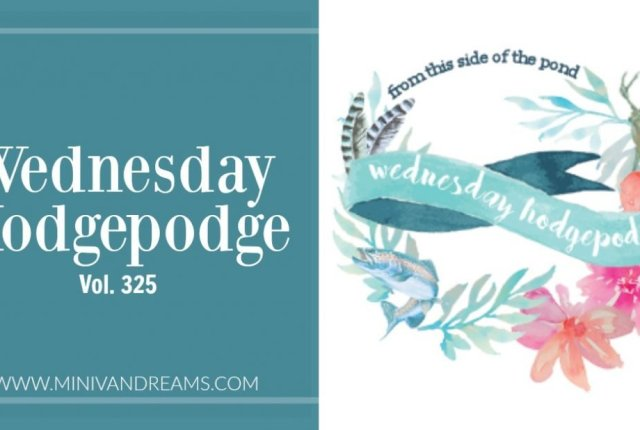 Wednesday Hodgepodge Vol. 325 | Mini Van Dreams