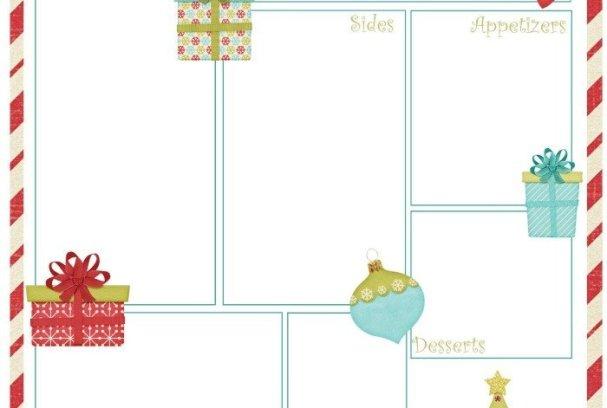 Christmas Dinner Planner Free Printable   Mini Van Dreams