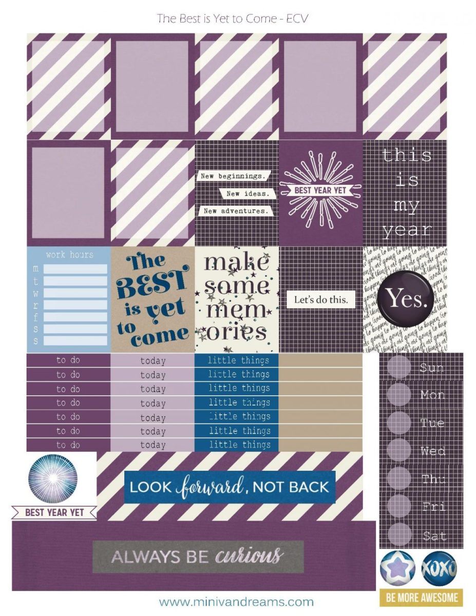 Free Printable Planner Stickers: Best is Yet to Come