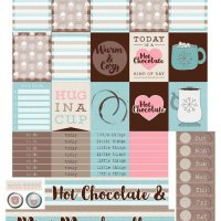 Free Printable Planner Stickers: For the Love of Chocolate