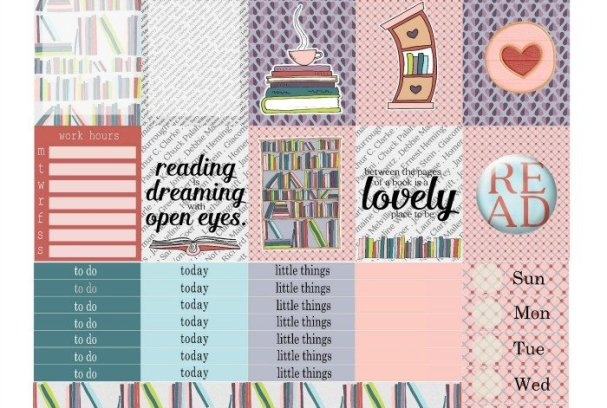 Free Printable Planner Stickers: Read More | Mini Van Dreams