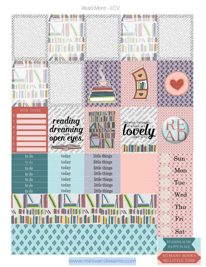 Free Printable Planner Stickers: Read More | Mini Van Dreams