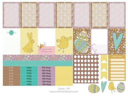 Free Printable Planner Stickers - Easter (HP & ECV)   Mini Van Dreams
