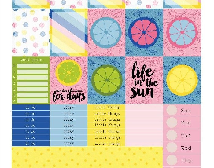 Free Printable Planner Stickers: Blue Skies & Lemonade | Mini Van Dreams