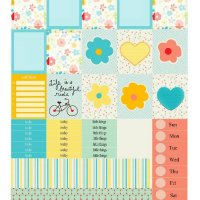 Free Printable Planner Stickers: Ride a Bike