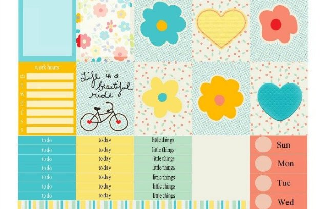 Free Printable Planner Stickers: Ride a Bike | Mini Van Dreams