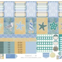 Free Printable Planner Stickers: Coastal (ECV  & HP)