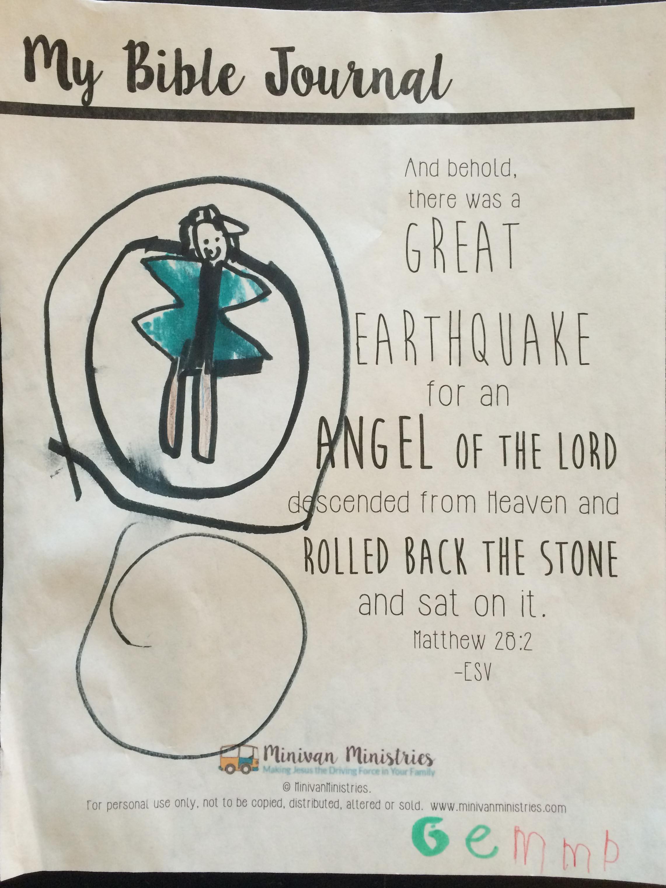 Easter Bible Journal Printables For Kids
