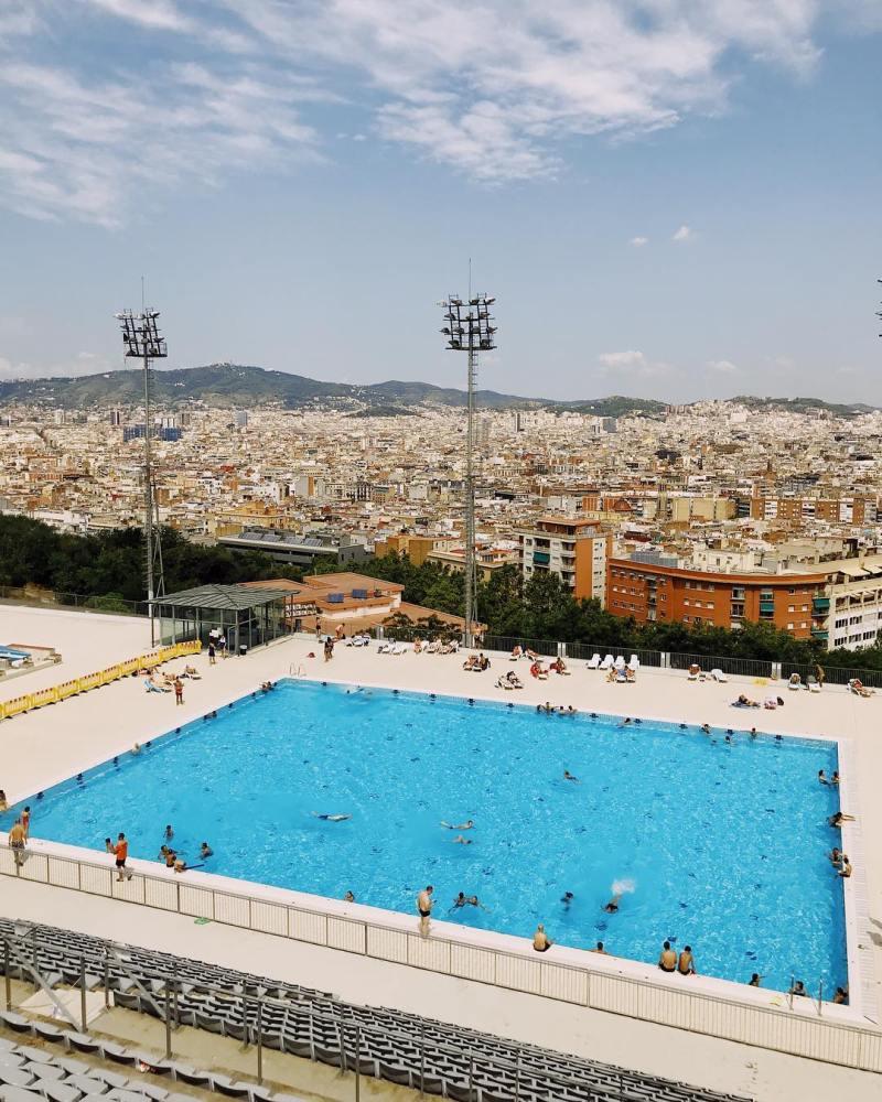 Things to do in Barcelona @sarahmoorexo Piscina Municipal de Montjuic