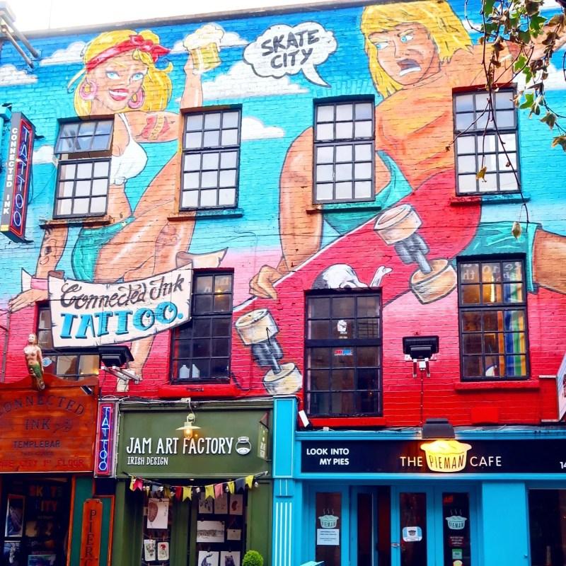 Dublin street art @minkaguides Skate City