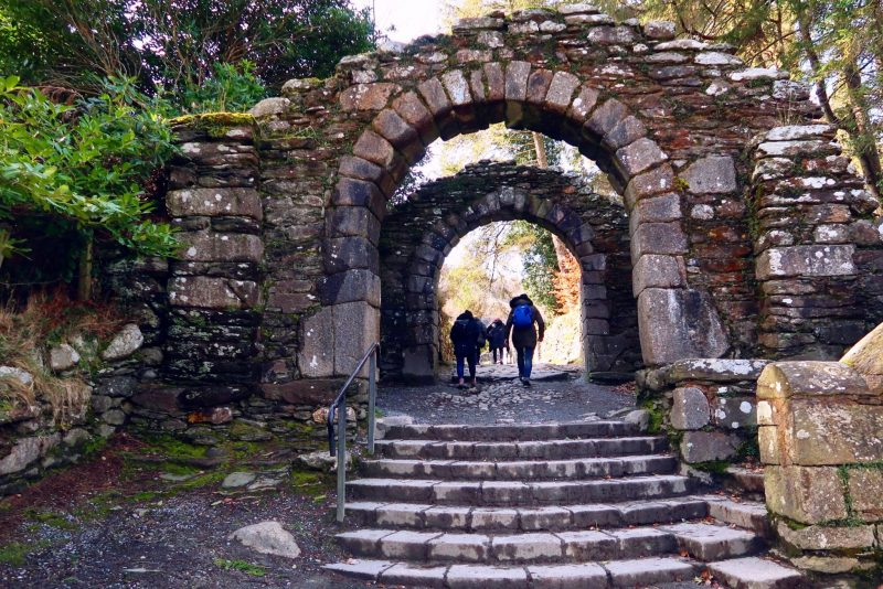 Wicklow Mountains day trip from Dublin @minkaguides Monastary entrance