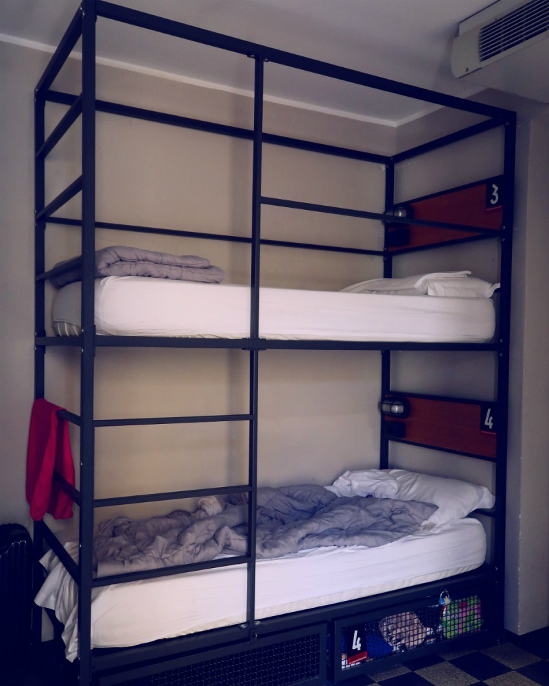 Review The Yellow Hostel Rome @minkaguides dorm bunks