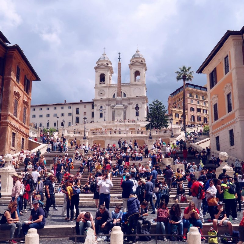 Rome overtourism @minkaguides Spanish steps
