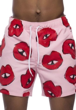 Cute swimsuits These Pink Lips Roses Are Red trunks CREDIT These Pink Lips