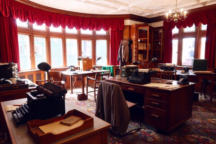 Bletchley Park Museum office in library CREDIT_ © Minka Guides