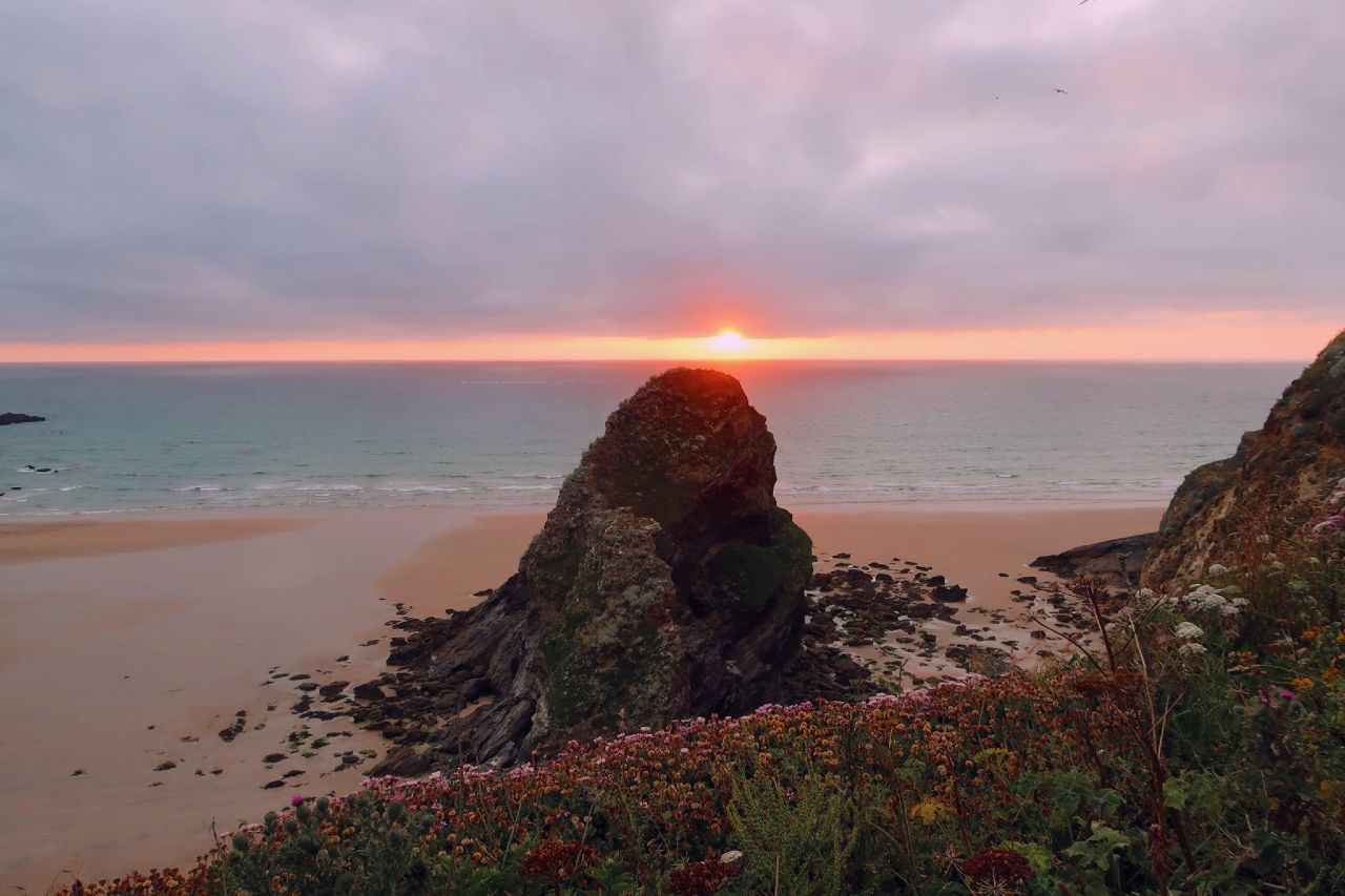 Cornwall itinerary - Newquay sunset CREDIT Minka Guides