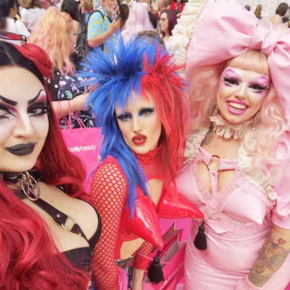 Can women be drag queens Mynxie Georgie Bee and Tete Bang CREDIT @mynxietheprogoth