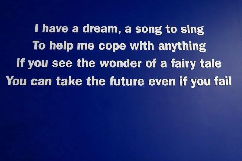 ABBA Super Troupers exhibition I Have A Dream lyrics CREDIT Minka Guides_picmonkeyed