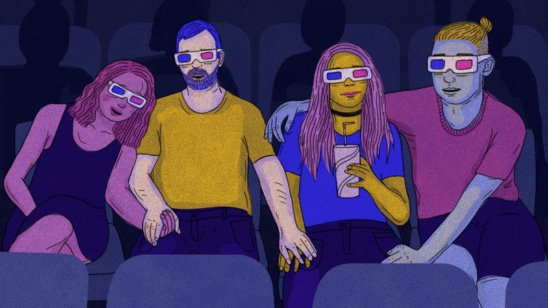 Polyamory illustrations CREDIT Brittany Falussy/Rolling Stone