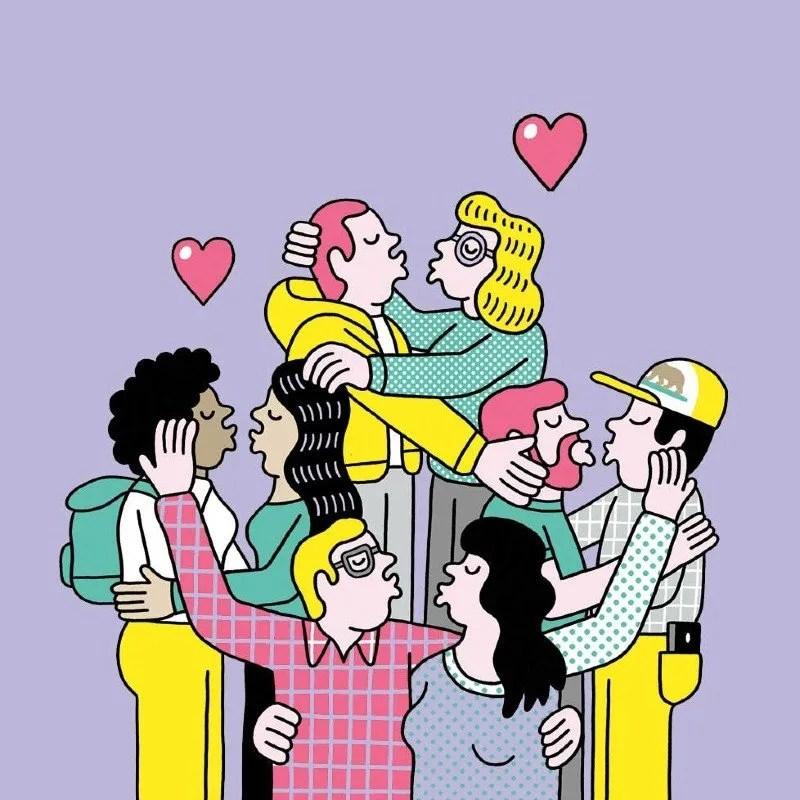 Polyamory illustrations CREDIT JOCHEN SCHIEVINK/Wired