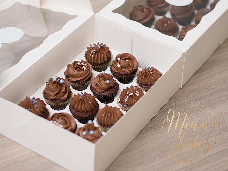 Double Chocolate Mini Cupcakes