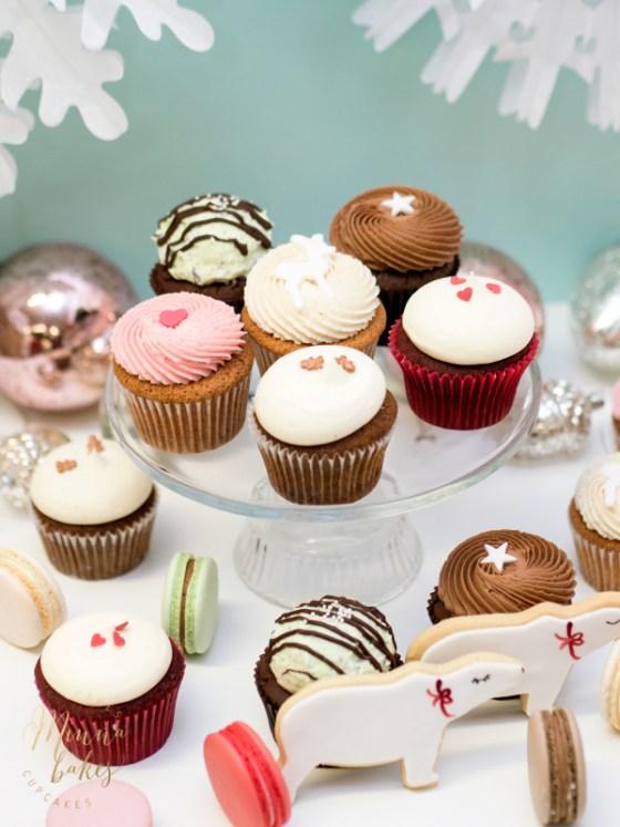 Jouluteemaiset cupcaket