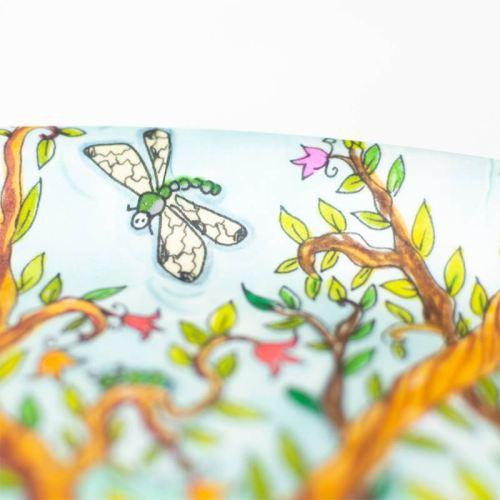 Pöllöpuu, iso pyöreä tarjotin sisustukseen tai keittiöön, Minna Suuronen Design