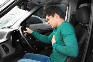 racing heart driving anxiety