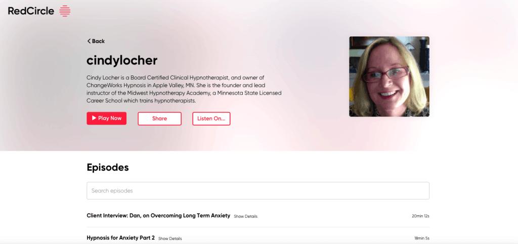 Cindy Locher hypnosis radio show podcasts