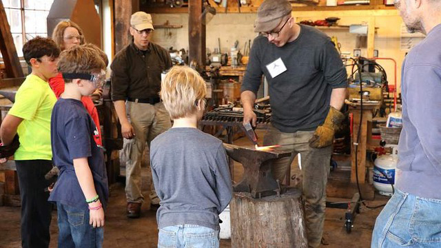 An image from a metalwork class at North House Folk School in Grand Marais, a Minnesota State Arts Board grantee.