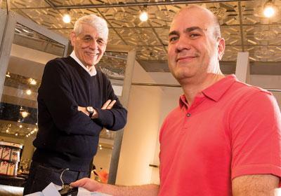 Len (left) and Michael Druskin