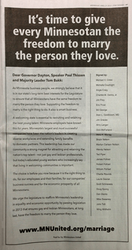 strib full page marriage ad