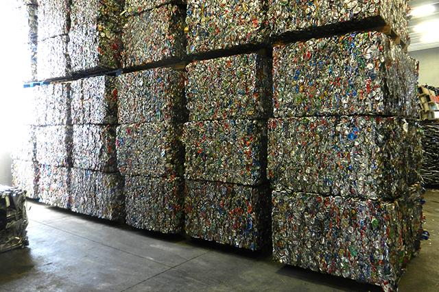 bales of cans