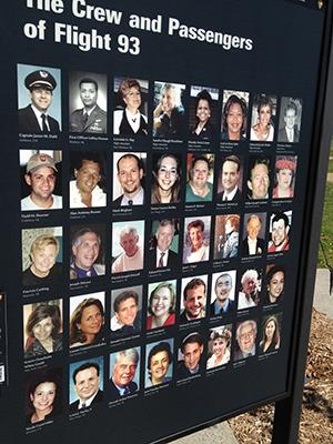 Portraits of the crew and passengers of Flight 93