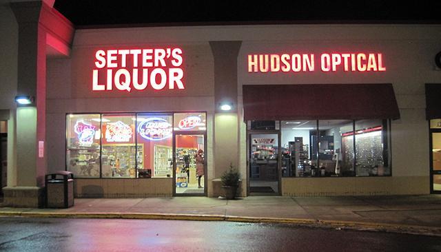 setters liquor sign