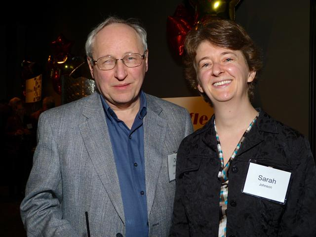 MinnPost news editor Don Effenberger and Sarah Johnson