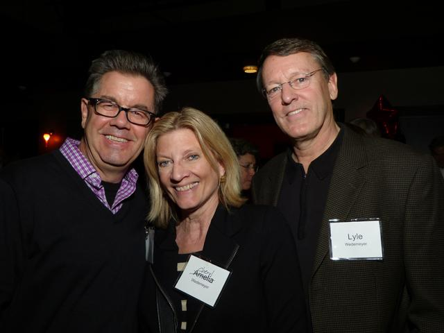 MinnPost journalist John Reinan and Cheryl and Lyle Wedemeyer