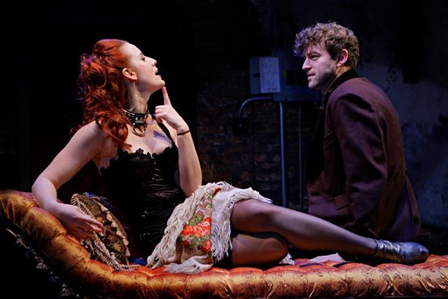Vanda (Anna Sundberg) and Thomas (Peter Christian Hansen) in 'Venus in Fur'