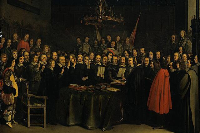 peace of munster signing painting