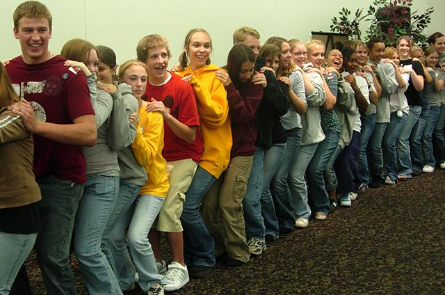 students dancing photo