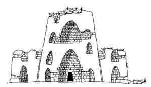 Santu Antine Tholos Nuraghe - Sectional