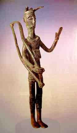 Bronze Shardana (Sherden) Warrior with Horned Helmet, Sardinia, Italy