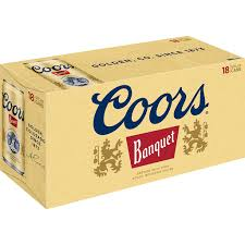 coors banquet 18 pack can