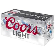 coors light 18 pack can