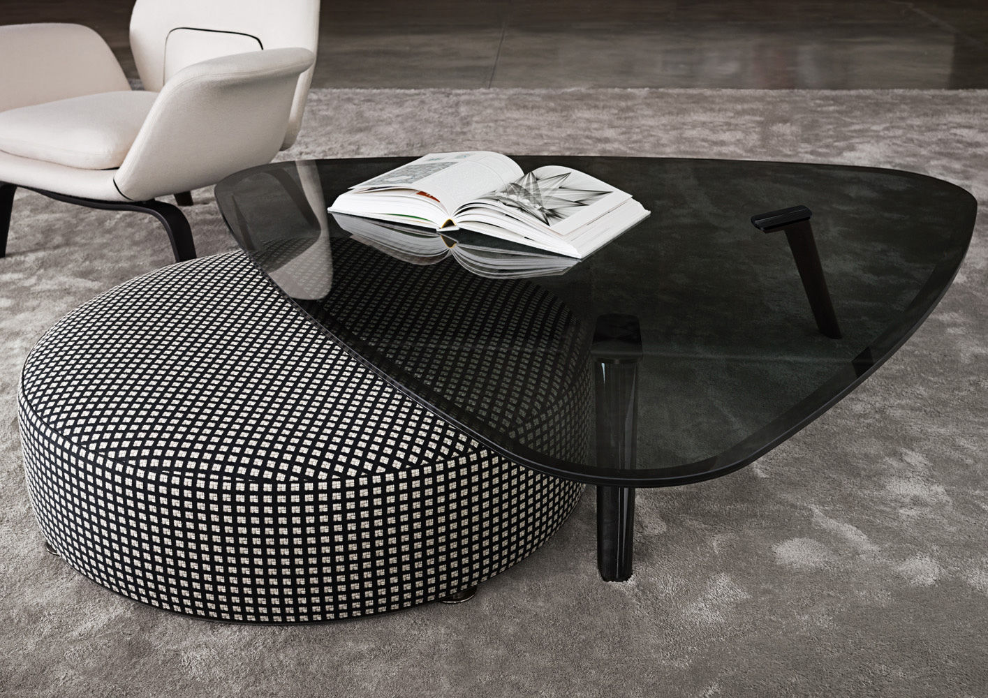 Ottoman Coffee Table Pouf