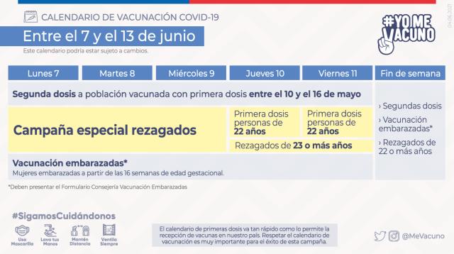 Calendario de vacunación masiva contra COVID-19 - Ministerio de Salud -  Gobierno de Chile
