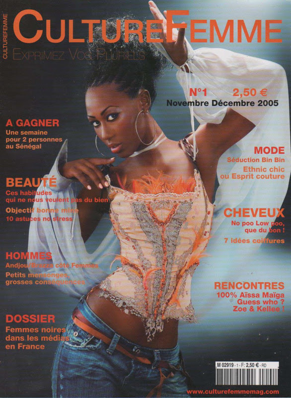 Culturefemme Magazine first cover-with our model Kadijatou (Mali) wearing African braids  FIND ME NOW ON DZALEU.COM