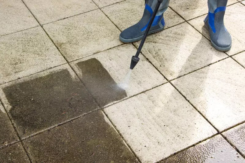how to clean patio slabs step by step