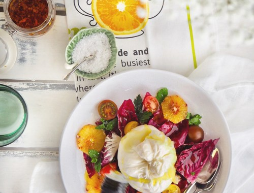burrata and blood orange recipe calories