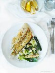 Megrim sole recipe. Cook this Megrim sole fish with spring green for a quick, low calorie lunch
